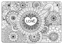 Free Printable Love Pdf Coloring Pages
