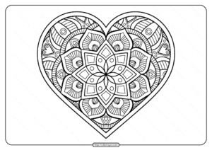 Free Printable Mandala Heart Pdf Coloring Page
