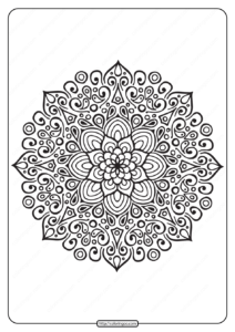 Free Printable Mandala Outline Pdf Coloring Page