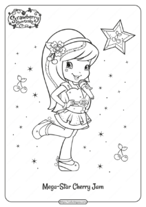 Free Printable Megastar Cherry Jam Coloring Page
