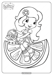 Free Printable Orange Blossom Pdf Coloring Page