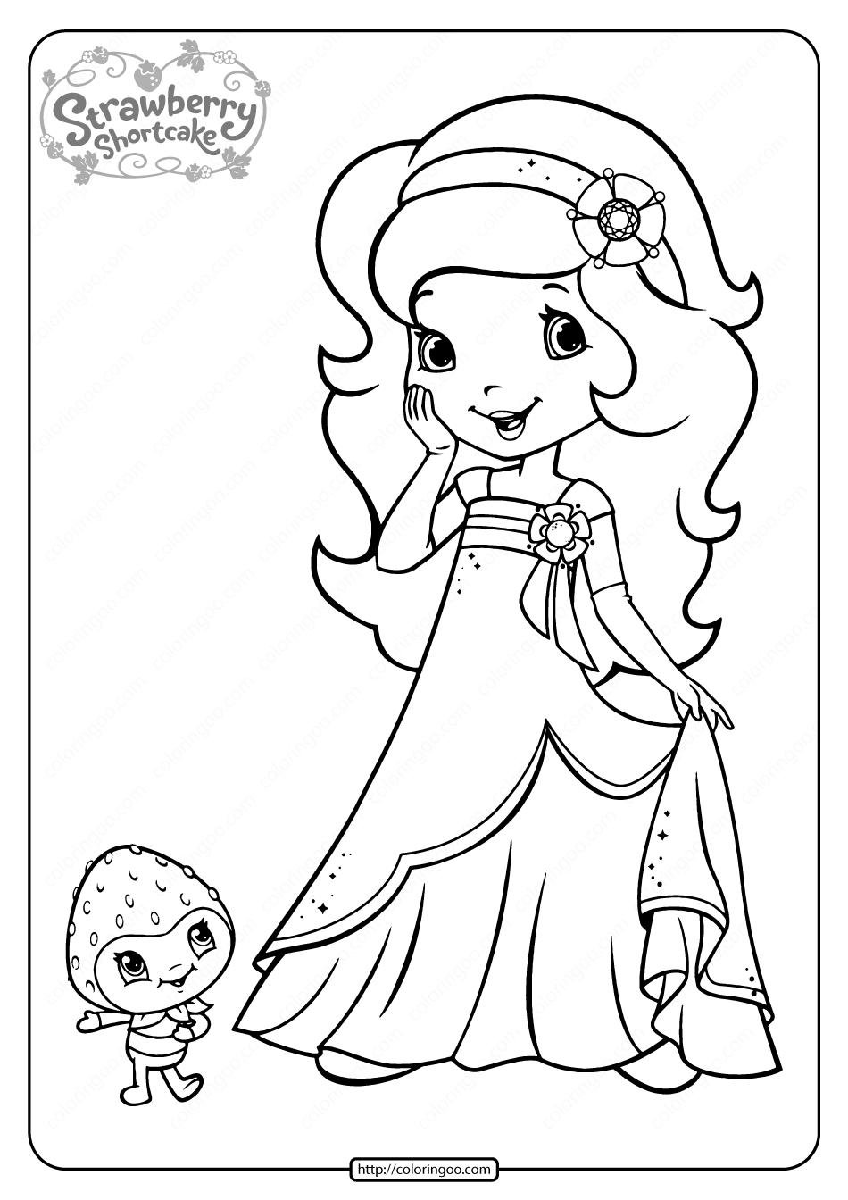Free Printable Orange Blossom Coloring Page