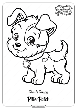 Free Printable Plum's Puppy Pitterpatch Coloring Page