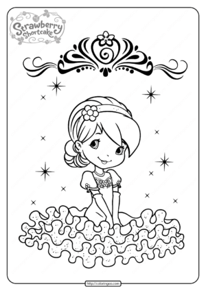 Free Printable Raspberry Torte Coloring Page