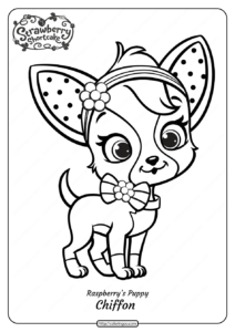 Printable Raspberry's Puppy Chiffon Coloring Page