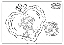 Free Printable Snow Berries Pdf Coloring Page
