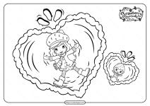Free Printable Snow Berries Pdf Coloring Page