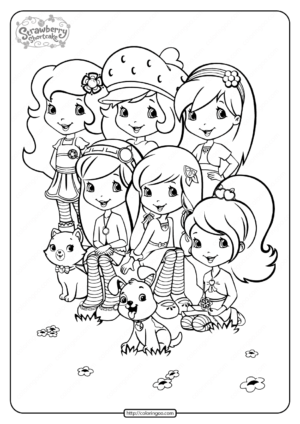 Printable Strawberry Shortcake and Friends Coloring