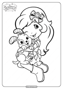 Printable Strawberry Shortcake and Pupcake Coloring