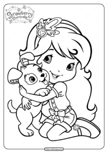 Free Printable Strawberry Shortcake Coloring Page 01