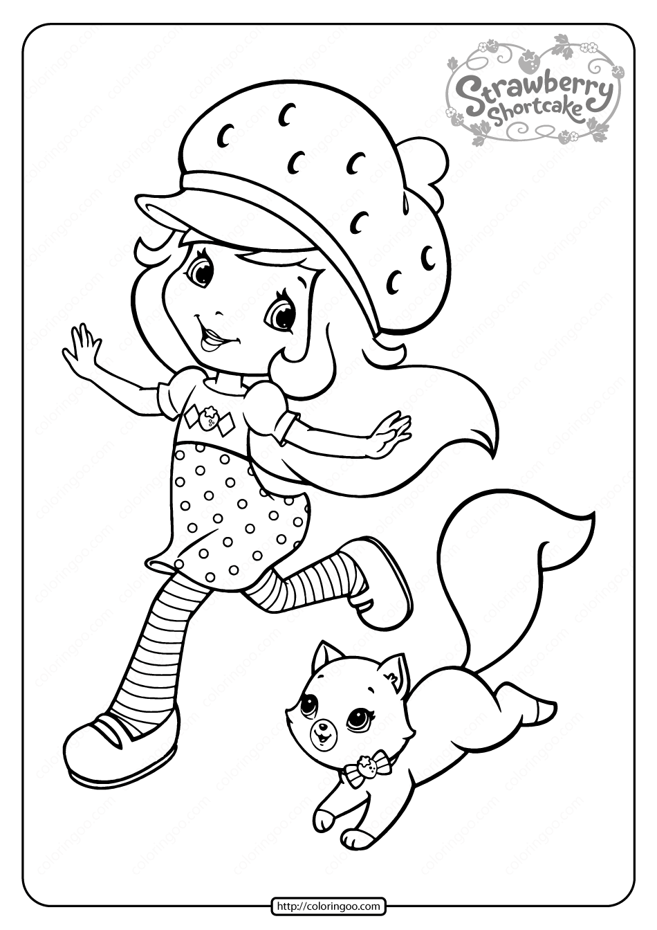 Free Printable Strawberry Shortcake Coloring Page 03