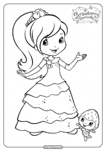 Free Printable Strawberry Shortcake Coloring Page 04