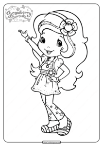Free Printable Strawberry Shortcake Coloring Page 05