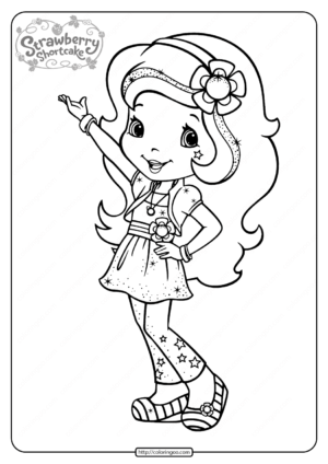 Free Printable Strawberry Shortcake Coloring Page 05