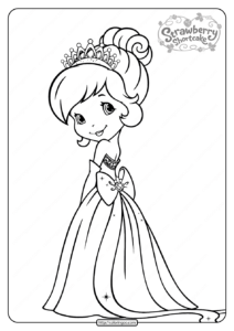 Free Printable Princess Cherry Jam Pdf Coloring Page
