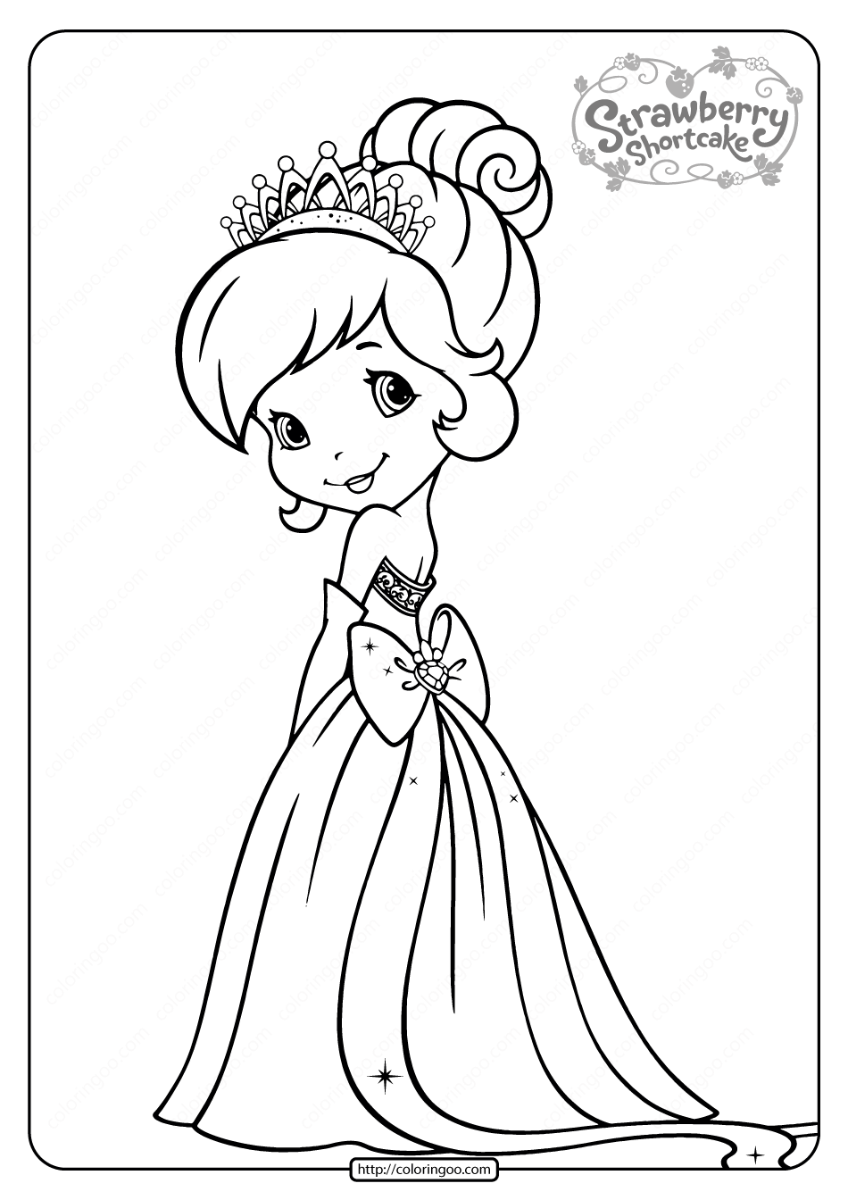 Free Printable Strawberry Shortcake Coloring Page 06