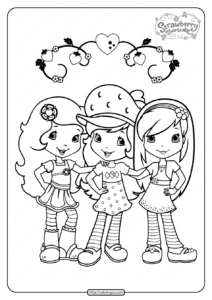 Free Printable Strawberry Shortcake Coloring Page 07