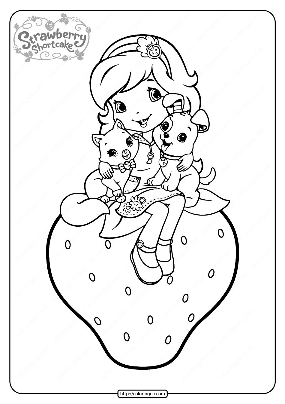 Free Printable Strawberry Shortcake Coloring Page 08