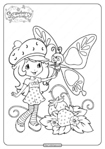 Free Printable Strawberry Shortcake Coloring Page 09