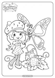 Free Printable Strawberry Shortcake Coloring Page 09
