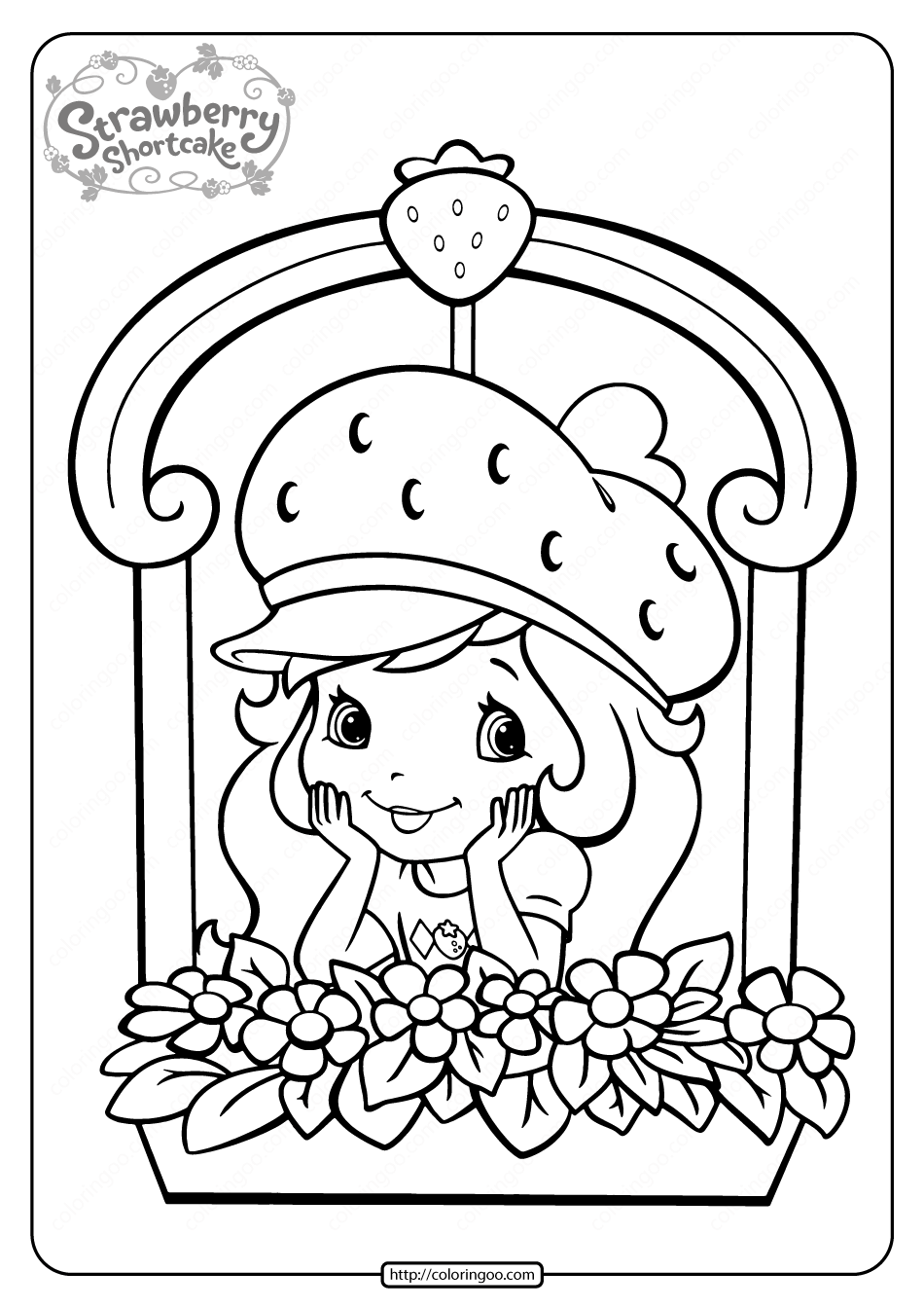 Free Printable Strawberry Shortcake Coloring Page 10