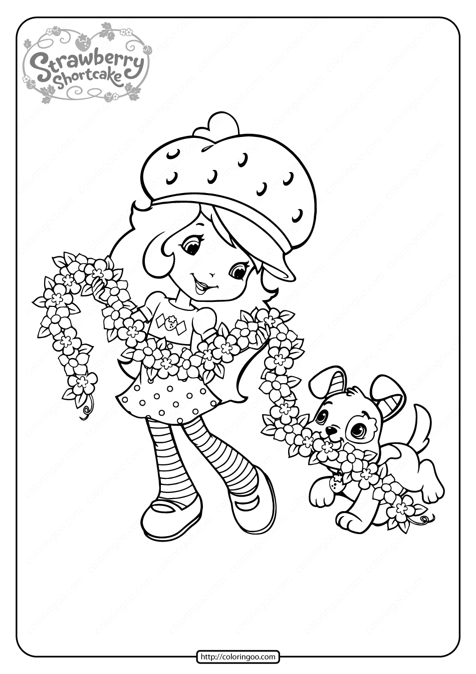 Printable Strawberry Shortcake Coloring Pages - 11