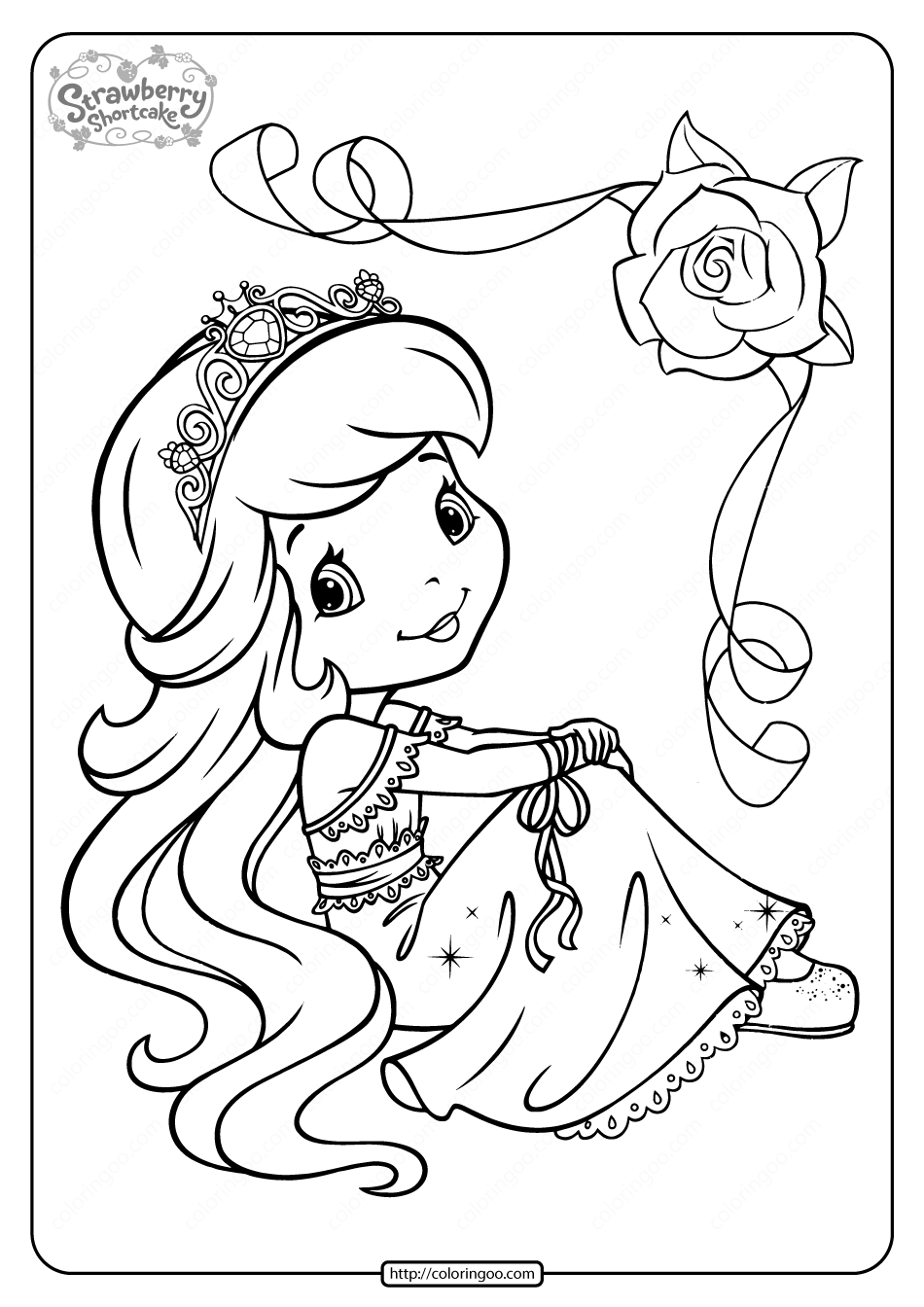 Printable Strawberry Shortcake Coloring Pages - 12
