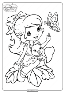 Printable Strawberry Shortcake Coloring Pages - 13