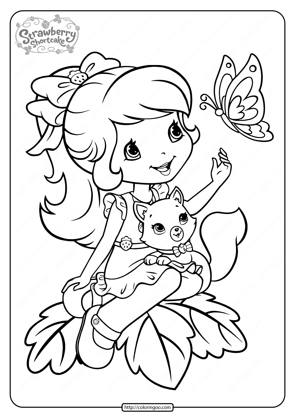 Printable Strawberry Shortcake Coloring Pages 13