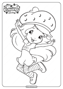 Printable Strawberry Shortcake Coloring Pages - 14