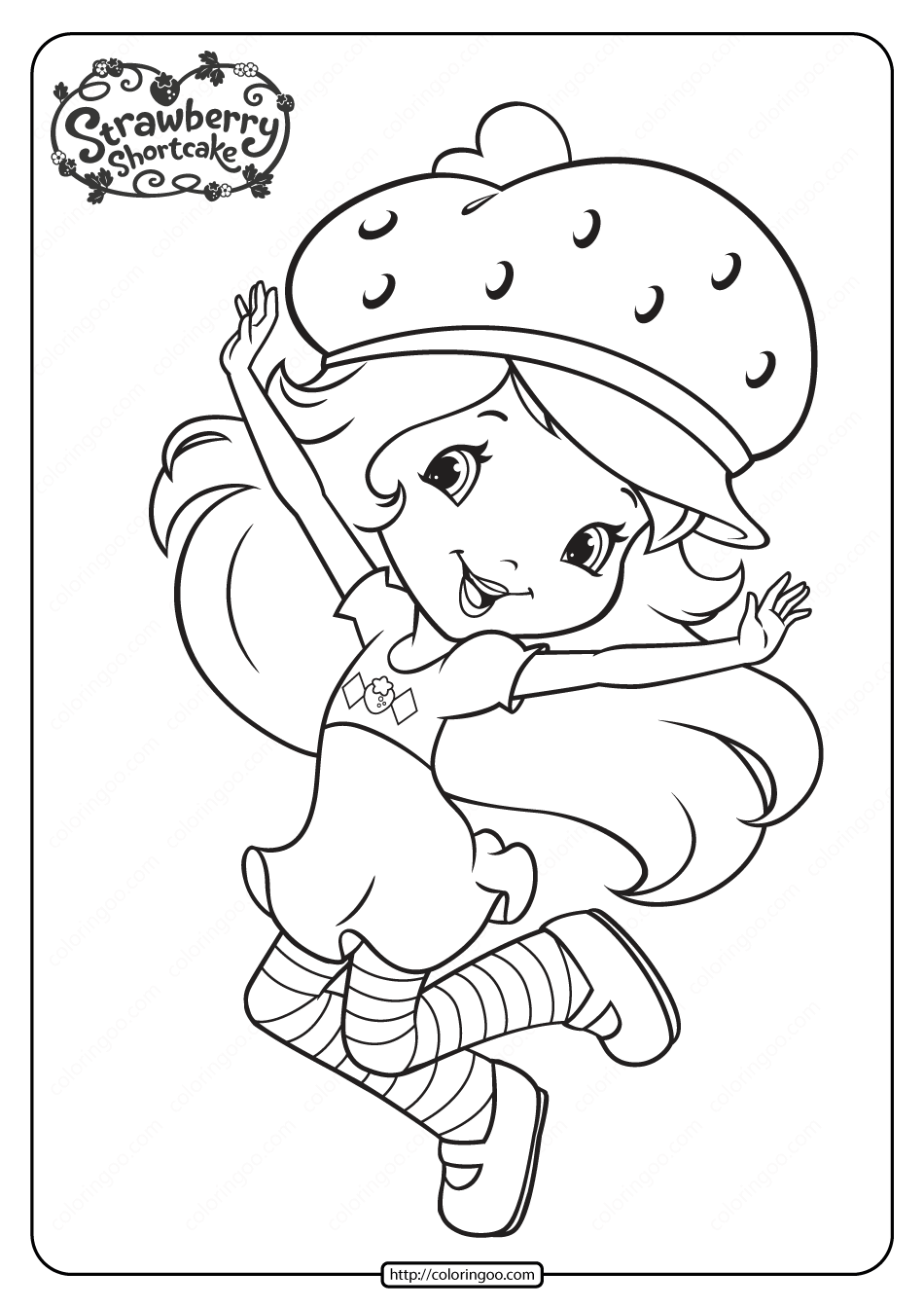 20+ Free Printable Strawberry Shortcake Coloring Pages ... | 1344x950