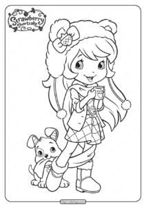 Printable Strawberry Shortcake Coloring Pages - 15