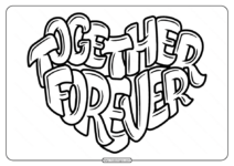 Free Printable Together Forever Pdf Coloring Page