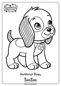 Printable Huckleberry's Puppy Tom Tom Coloring Page