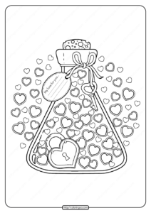 Printable My Love For You Pdf Coloring Page