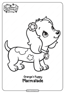 Printable Orange's Puppy Marmalade Coloring Page