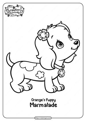 Printable Orange's Puppy Marmalade Coloring Page