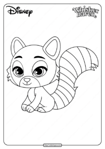 Printable Palace Pets Chai Pdf Coloring Page