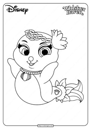 Printable Palace Pets Sandy Pearl Pdf Coloring Page