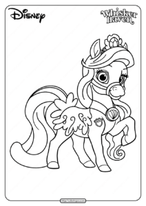 Printable Palace Pets Seashell Pdf Coloring Page