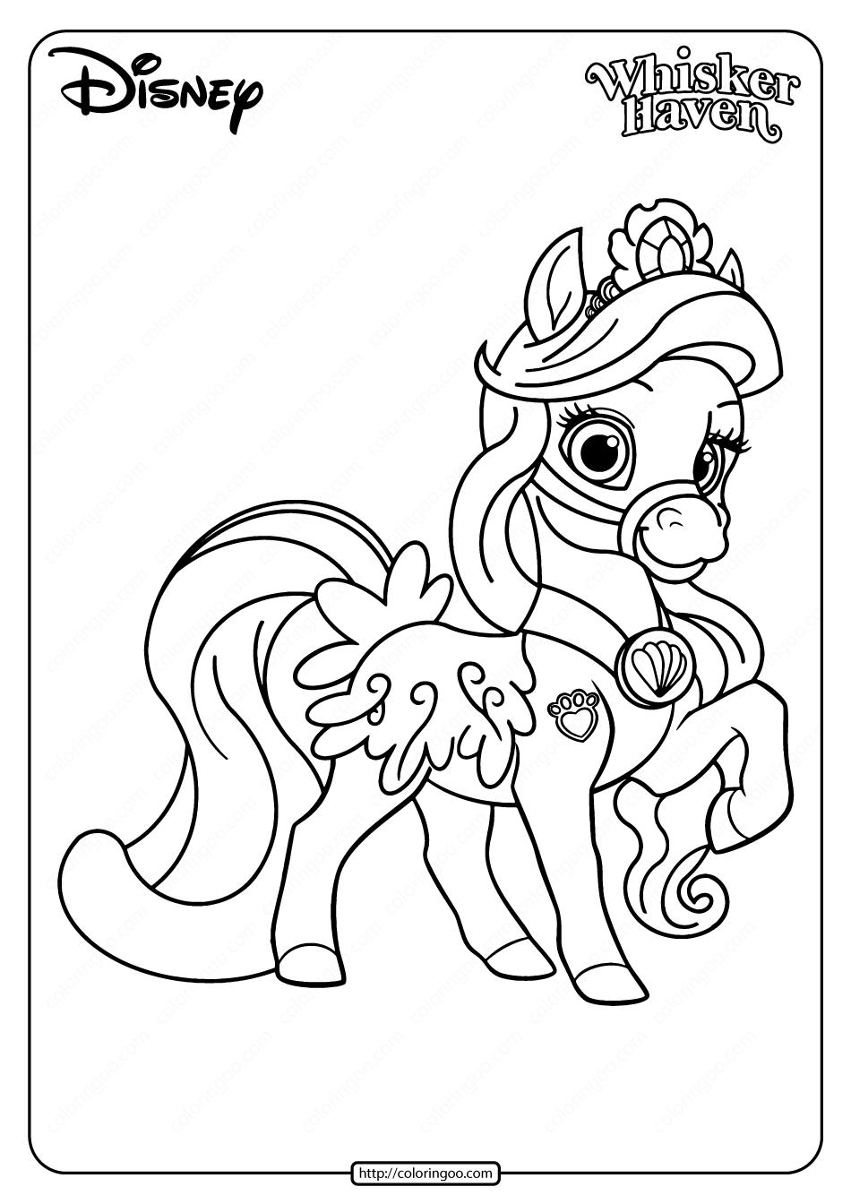 Printable Palace Pets Seashell Pdf Coloring Page