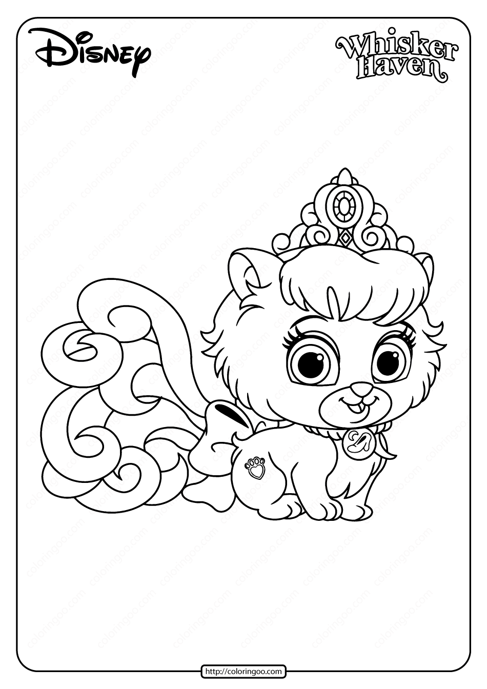 Printable Palace Pets Slipper Pdf Coloring Page