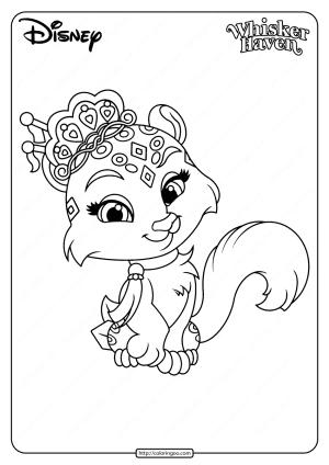 Printable Palace Pets Snowpaws Pdf Coloring Page