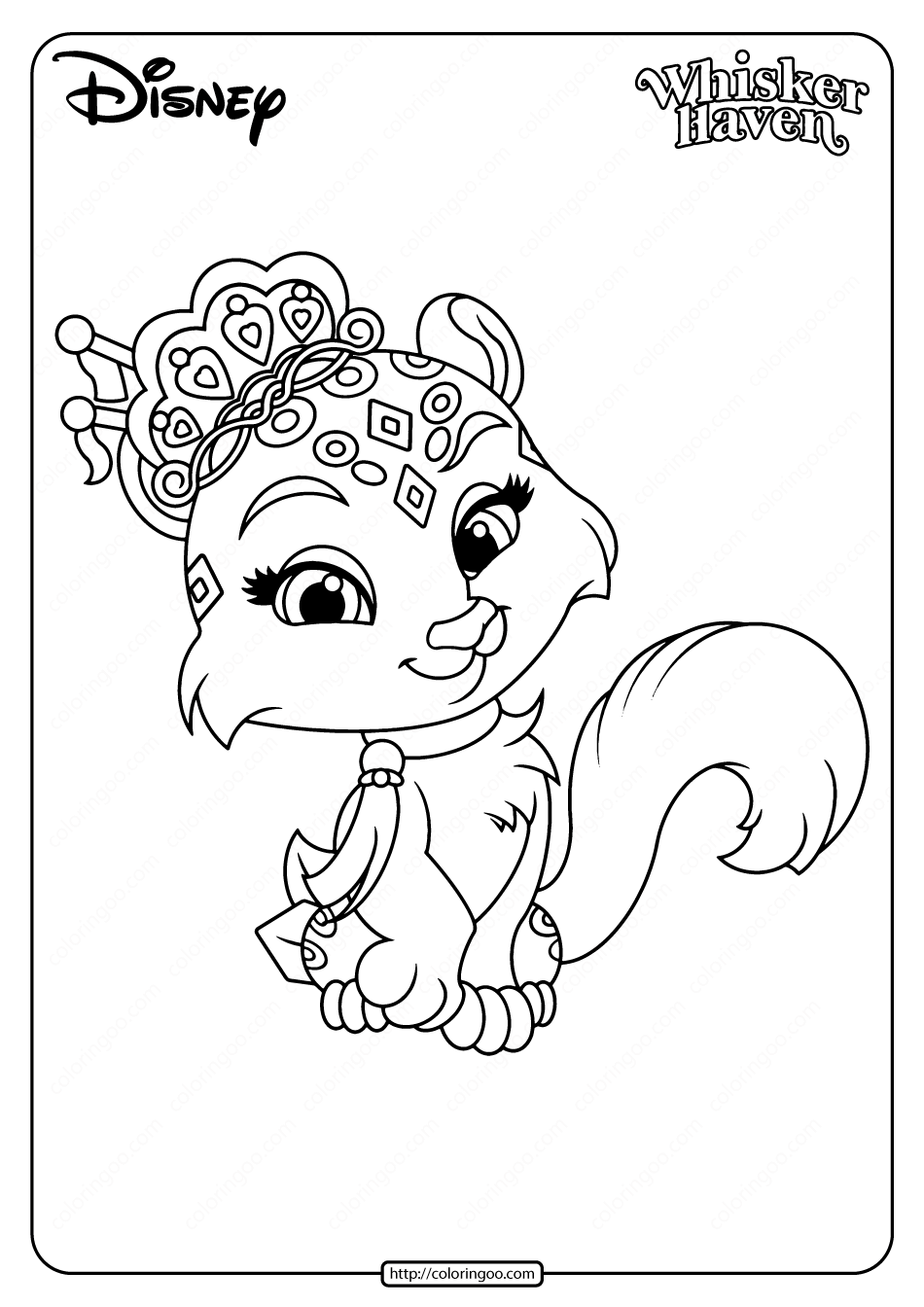 Printable Palace Pets Snowpaws Pdf Coloring Page