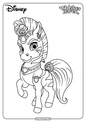 Printable Palace Pets Stripes Pdf Coloring Page