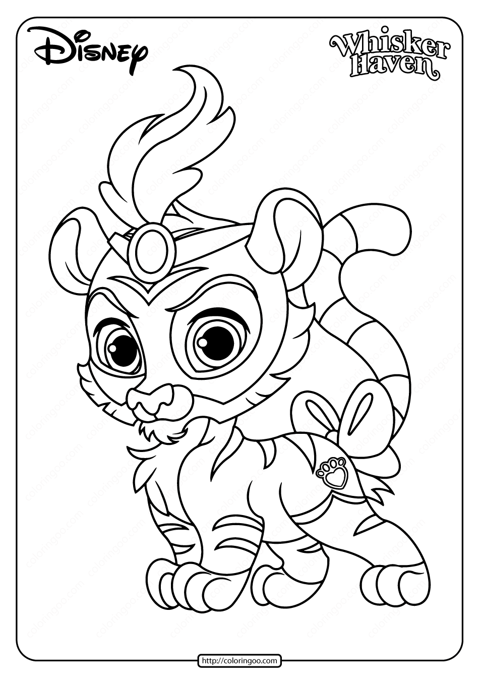 Printable Palace Pets Sultan Pdf Coloring Page