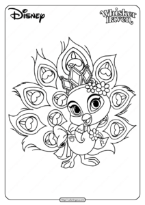 Printable Palace Pets Sundrop Pdf Coloring Page