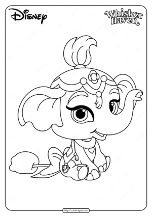 Printable Palace Pets Taj Pdf Coloring Page