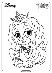 Printable Palace Pets Teacup Pdf Coloring Page