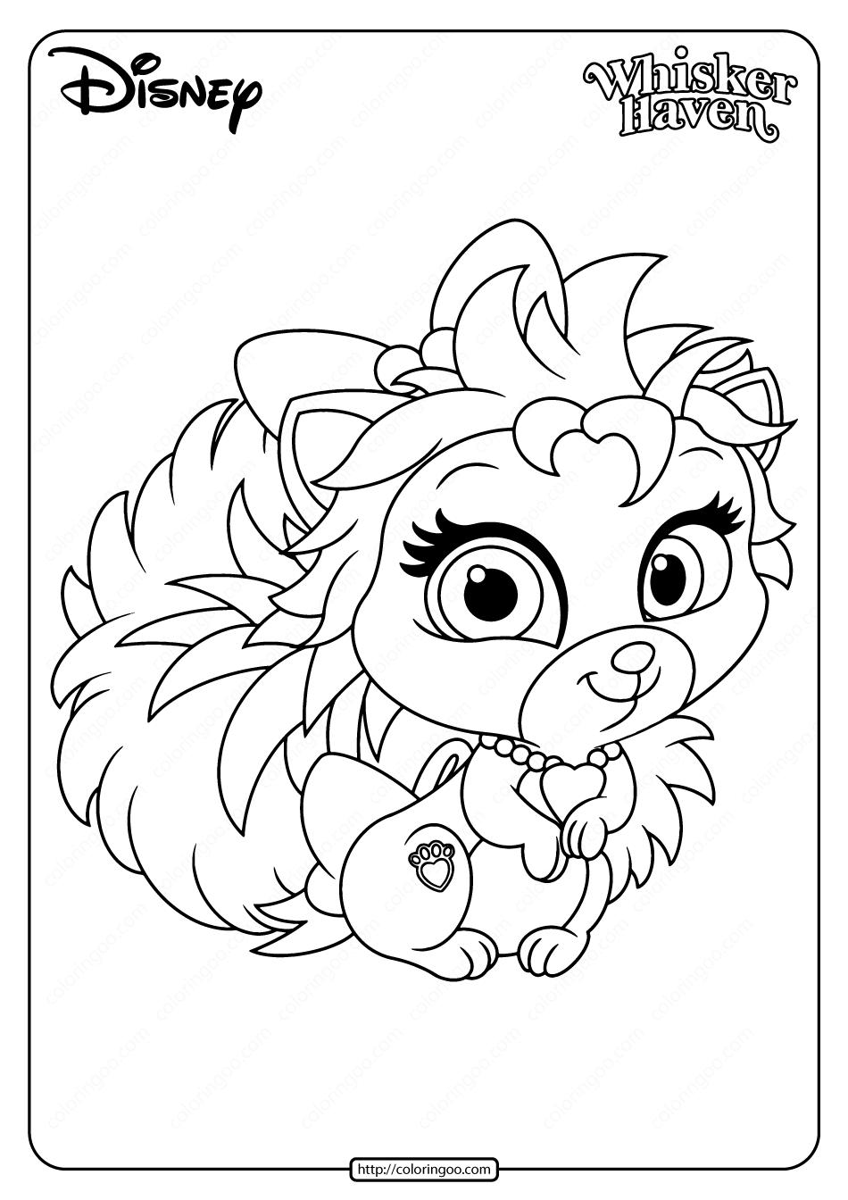 Printable Palace Pets Thistleblossom Coloring Page